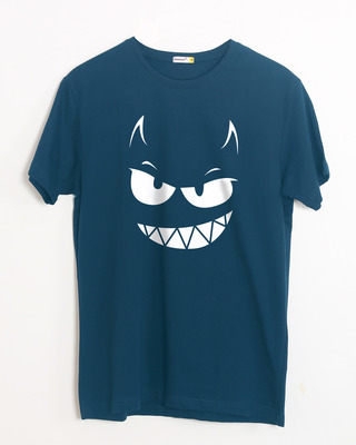 Buy Evil Smiley Half Sleeve T-Shirt Online India @ Bewakoof.com