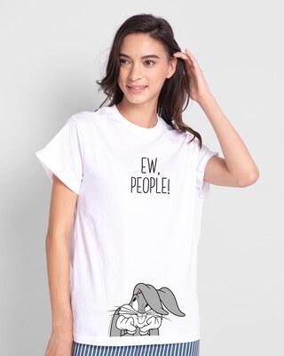 Shop Ew People Boyfriend T-Shirts White-Front