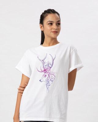 Shop Expecto Patronum Boyfriend T-Shirt (HPL)-Front