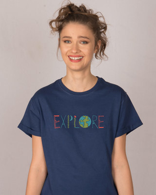 Shop Explore Colors Boyfriend T-Shirt-Front