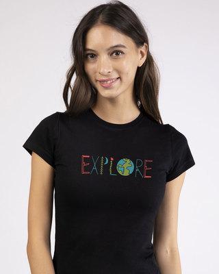 Shop Explore Colors Half Sleeve T-Shirt-Front