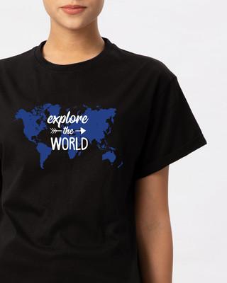 Shop Explore Map Boyfriend T-Shirt-Front