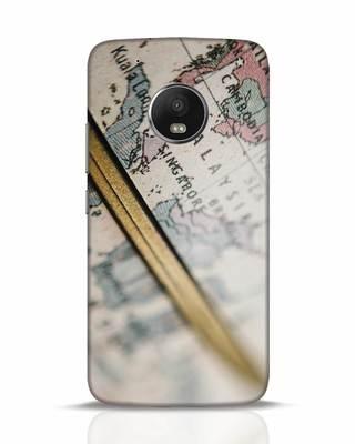 Shop Explore Map Moto G5 Plus Mobile Cover-Front