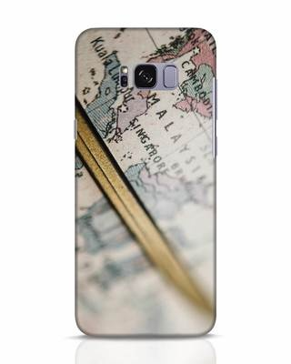 Shop Explore Map Samsung Galaxy S8 Mobile Cover-Front