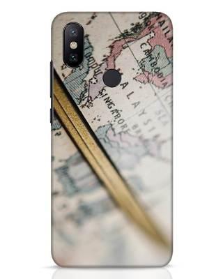 Shop Explore Map Xiaomi Mi A2 Mobile Cover-Front