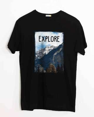 Buy Explore The Mountains Half Sleeve T-Shirt Online India @ Bewakoof.com
