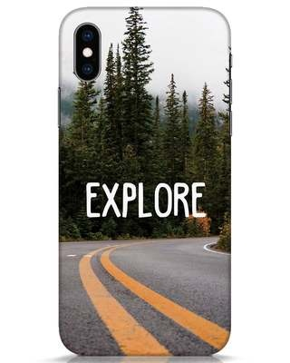 Shop Explore The Mountains iPhone XS Mobile Cover-Front