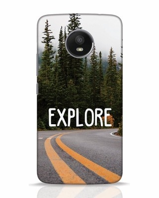 Shop Explore The Mountains Moto E4 Plus Mobile Cover-Front