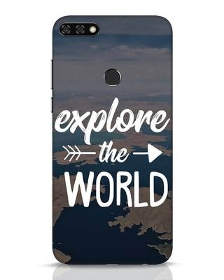 Shop Explore The World Huawei Honor 7C Mobile Cover-Front