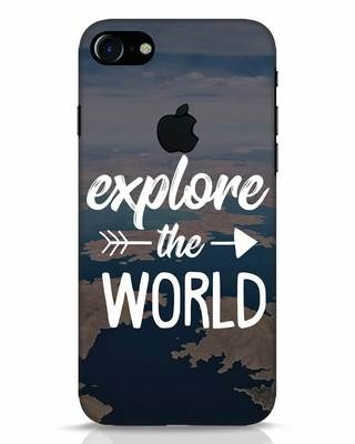 Shop Explore The World iPhone 7 Logo Cut Mobile Cover-Front