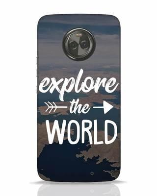 Shop Explore The World Moto X4 Mobile Cover-Front