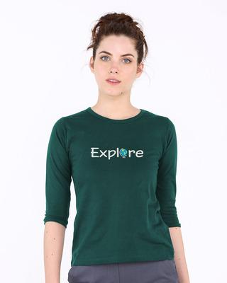 Buy Explore The World Round Neck 3/4th Sleeve T-Shirt Online India @ Bewakoof.com