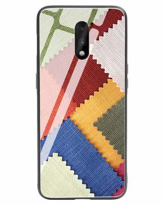 Shop Fabric Feels OnePlus 7 Glass Mobile Cover-Front
