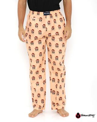 Shop Smugglerz Faces Orange Pyjamas-Front