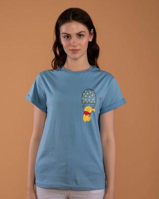 Shop Falling Pooh Boyfriend T-Shirt (DL)-Front