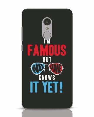 Shop Famous Xiaomi Redmi Note 4 Mobile Cover-Front