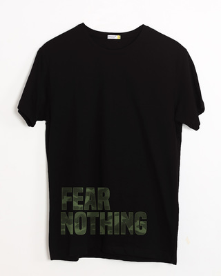 Buy Fear Nothing Camo Half Sleeve T-Shirt Online India @ Bewakoof.com