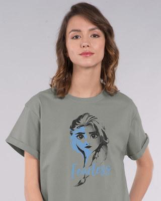 Shop Fearless Elsa (Frozen) Boyfriend T-Shirt (DL)-Front