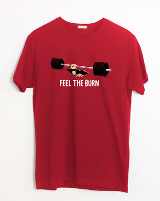 Shop Feel The Burn Half Sleeve T-Shirt-Front