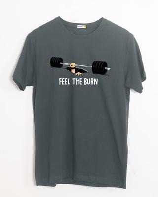 Shop Feel The Burn Half Sleeve T-Shirt-Front