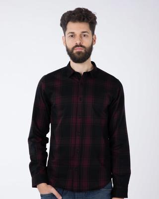 Buy Fig Purple Checked Full Sleeve Shirt Online India @ Bewakoof.com