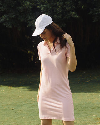 Shop Fiji Pink Polo Dress-Front
