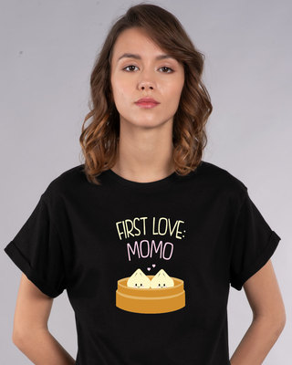Shop First Love- Momo Boyfriend T-Shirt-Front
