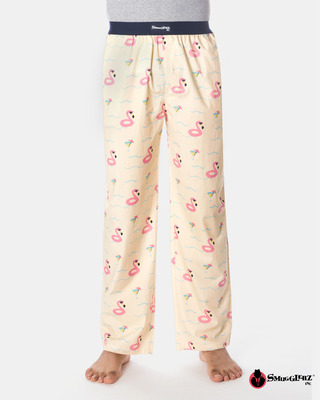 Shop Smugglerz Flamingo Float Pyjamas Pink-Front