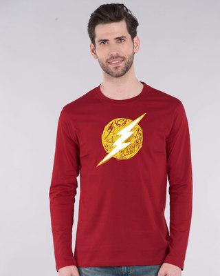 Shop Flash Doodle Logo Full Sleeve T-Shirt (FL)-Front
