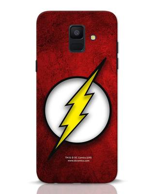 Shop Flash Logo Samsung Galaxy A6 2018 Mobile Cover (BML)-Front