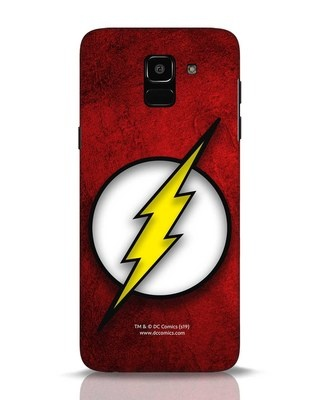 Shop Flash Logo Samsung Galaxy J6 Mobile Cover (BML)-Front