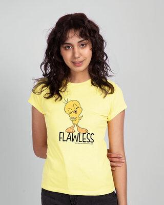 Shop Flawless Tweety Half Sleeve T-Shirt (LTL)-Front