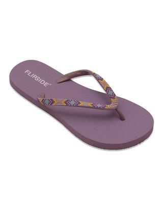 Shop Flipside Ladies Mauve Purple Flipflops n Slippers-Front