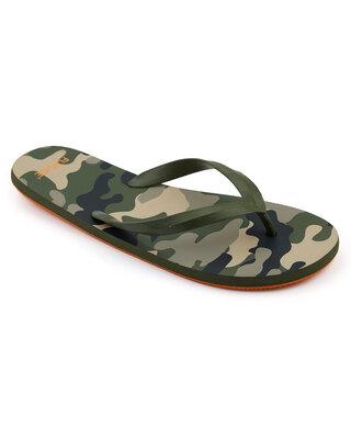 Shop Flipside Men's Camo Green Slipper-Front