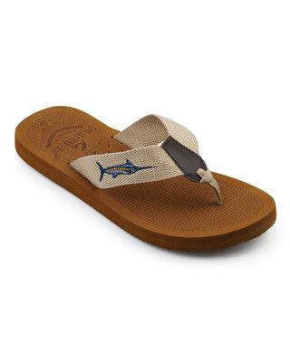 Shop Flipside Mens Harbour Brown Slippers-Front