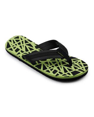 Shop Flipside Mens Trek Green Slippers-Front
