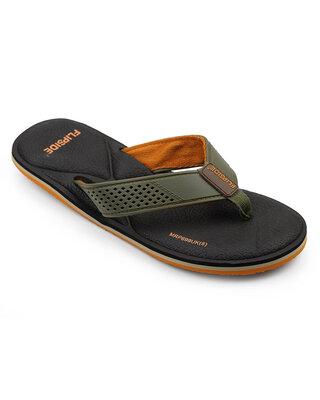 Shop Flipside Mens Ultra Comfort Brown Slippers-Front