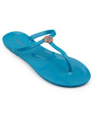 Shop Flipside Womens Ria Blue Flats-Front