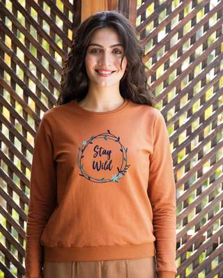 Shop Floral Stay Wild Sweatshirt-Front