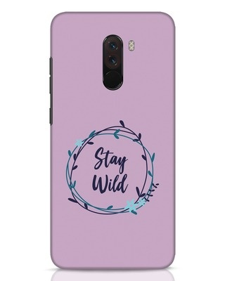 Shop Floral Stay Wild Xiaomi POCO F1 Mobile Cover-Front