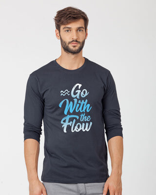 Shop Flow Full Sleeve T-Shirt-Front
