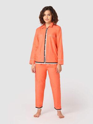 Shop Flufflump Fairy Floss Orange Night Suit-Front