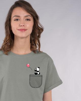 Shop Fly Away Balloon Boyfriend T-Shirt-Front