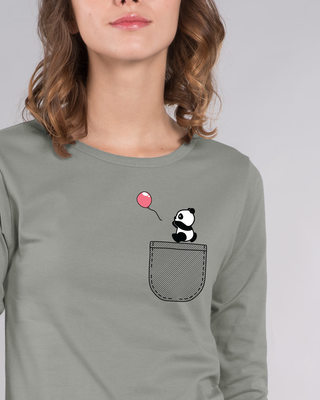 Shop Fly Away Balloon Round Neck 3/4th Sleeve T-Shirt-Front