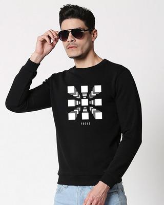 Shop Focus Blocks Fleece Sweater Black-Front