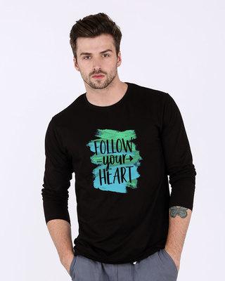 Shop Follow Your Heart Full Sleeve T-Shirt-Front
