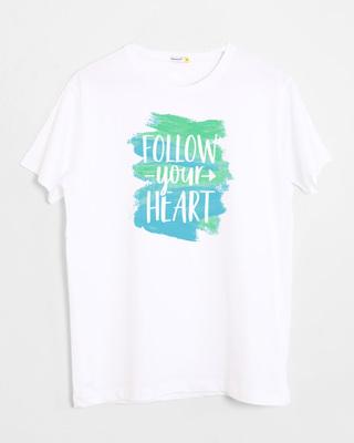 Shop Follow Your Heart Half Sleeve T-Shirt-Front