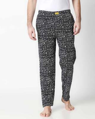 Shop Foodie Black Knitted Pyjamas-Front