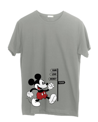Shop Foodie Mickey Half Sleeve T-Shirt (DL)-Front