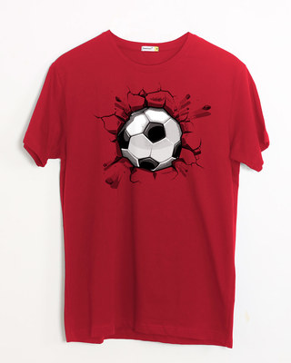 Shop Football Break Half Sleeve T-Shirt-Front